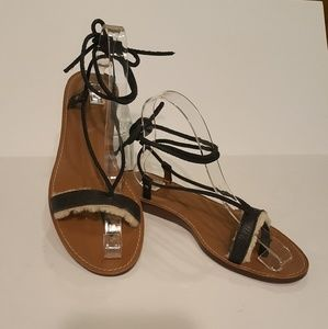 UGG Leather Lace Up Sandals sz 9